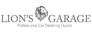 Lion's garage logo